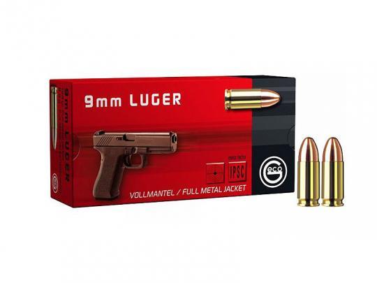 GECO 9 mm Luger, Vollmantel-Rundkopf 124 grs 20 Packungen (1.000 Schuss á 0,204 €*)