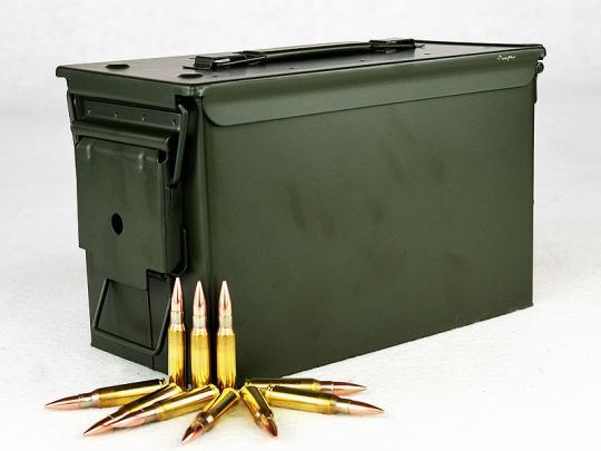 PPU-Munitionsbox mit .308 WIN, FMJ 1 Munitionskiste (500 Schuss á 0,748 €*)