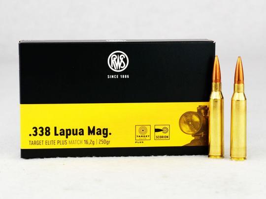 RWS Target Elite Plus .338 Lapua Magnum, 250 grs 1 Packung (20 Schuss á 3,90 €*)