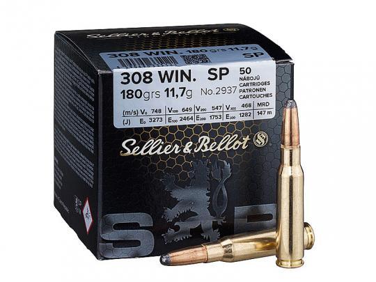 Sellier & Bellot .308 Winchester, Teilmantel 180 grs 1 Packung (50 Schuss á 0,956 €*)