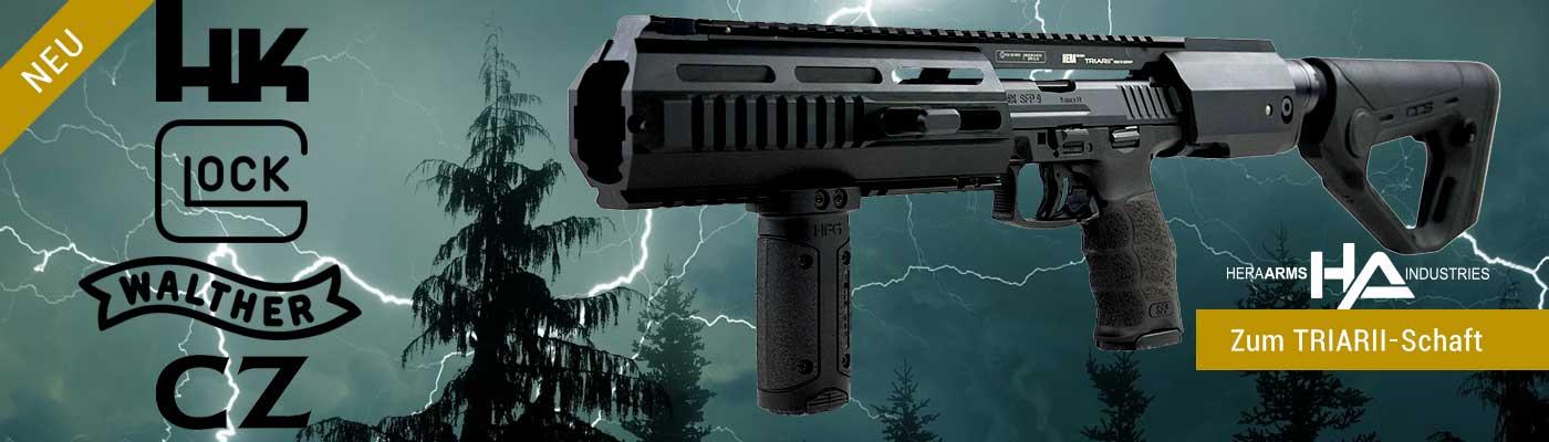 HERA TRIARII-Pistolenanschlagschaft-System